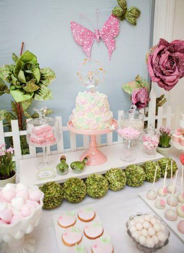 chá de bebê meninas jardim secreto rosas