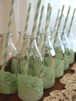 chá de bebê meninas verde bebidas