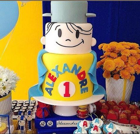festa infantil menino maluquinho bolo