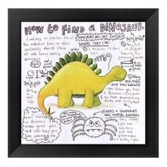 quadro para quarto de bebê dinossauro