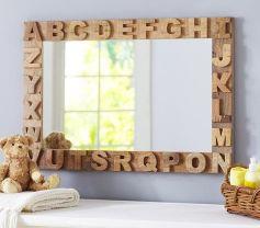 quadro para quarto de bebê espelho