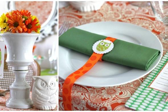 chá de bebê corujinha decoração verde