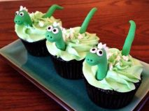 festa infantil dinossauro cupcake