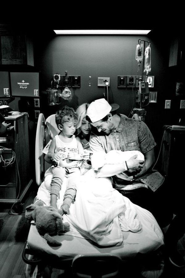 recém-nascido no hospital