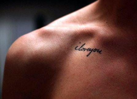 tatuagens para filhos i love you