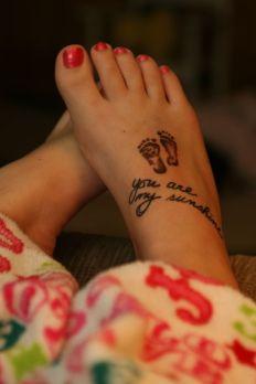 tatuagens para filhos pés
