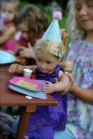 festa infantil chá de bonecas mesa