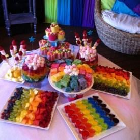 festa infantil mesa de doces frutas