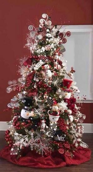 natal - árvore de boneco de neve