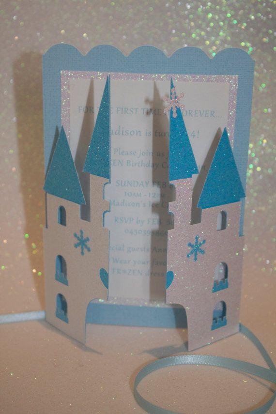 convite frozen castelo aberto