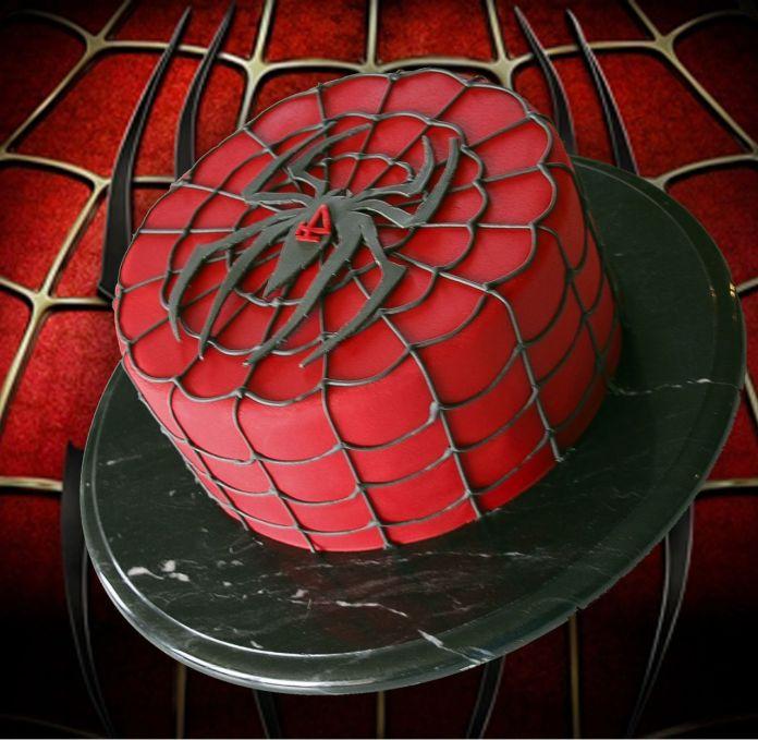 bolo-homem-aranha-vermelho-preto