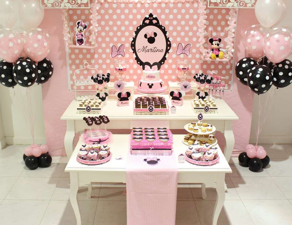 30 lindas ideias para voc fazer uma festa minnie for La table de mimi