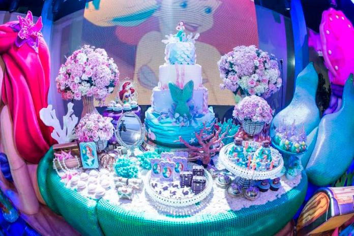 festa-infantil-decoração-pequena-sereia