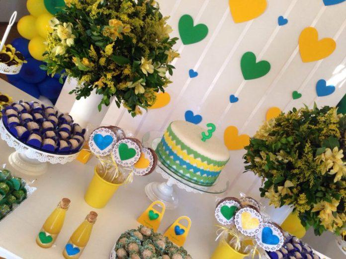 Decoração de Festa Infantil tema Copa do Mundo para meninas