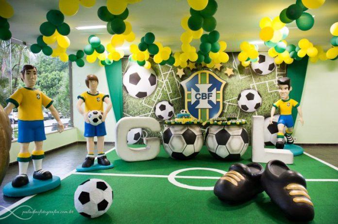 Decoração festa infantil copa do mundo