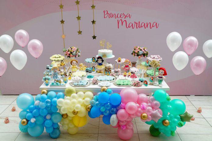 Decoração de festa princesas disney
