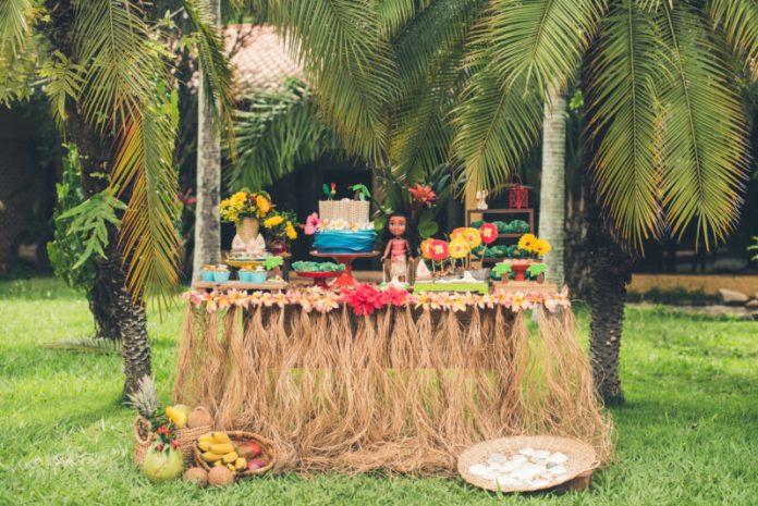 decoração de festa infantil princesa Moana