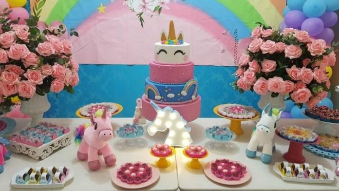 Decoraç u00e3o de Festa Infantil Unicórnio (20 ideias para voc u00ea se inspirar) -> Decoração De Festa Infantil Tema Unicornio