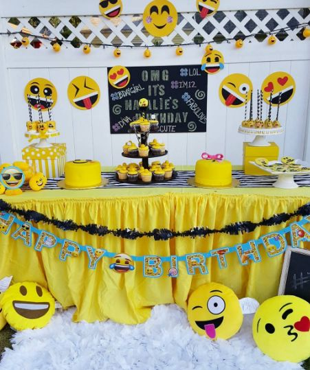 decoração de festa infantil emojis