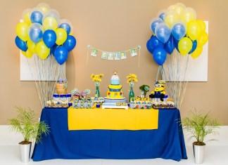 festa infantil dos minions