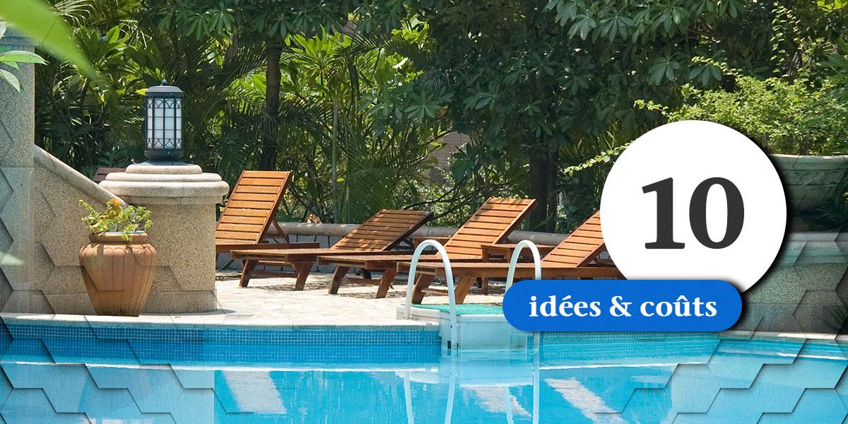 10 ides damnagement paysager incluant une piscine creuse ou hors terre  Exemples de cots