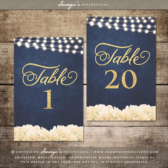 Welcome Wedding Sign Gold And Navy Wedding Welcome Sign
