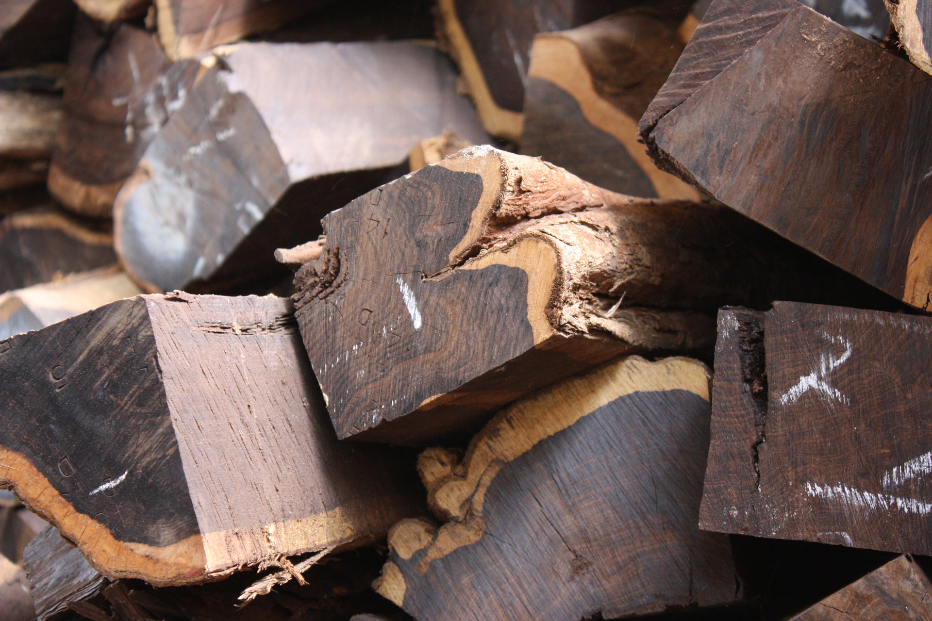 African Black Wood Logs