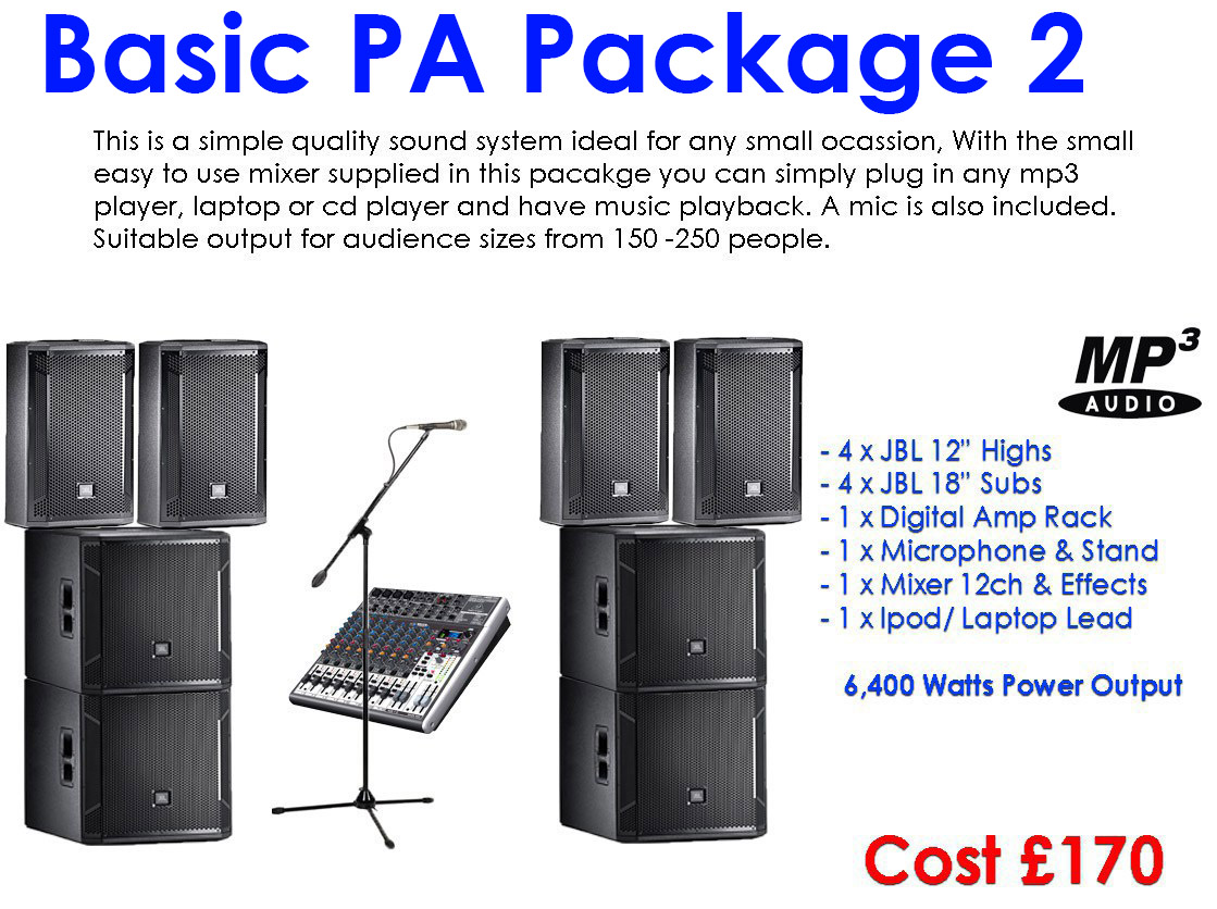 Sound Hire, Lighting Hire, Stage Hire