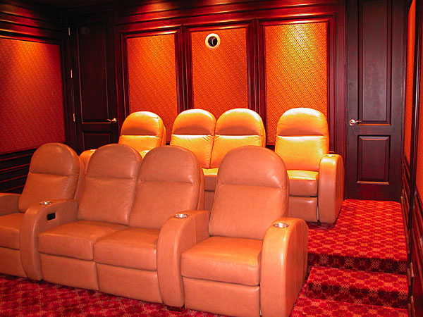 theatre room chairs yellow dining diy reader home theater starry night sound vision