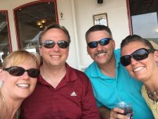 Melissa, Mark, Blake and Kirsten enjoying the riverboat tour