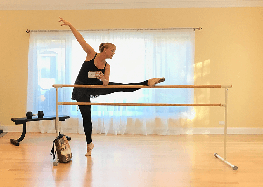 Melissa at the ballet barre