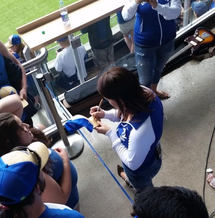 Jess Moskaluke Signing Autographs during her breaks
