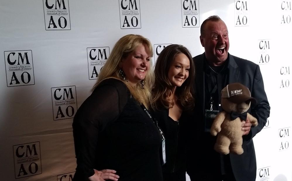 KX94.7 Morning Crew Toff and Melissa with Kira Isabella - Photo: Corey Kelly