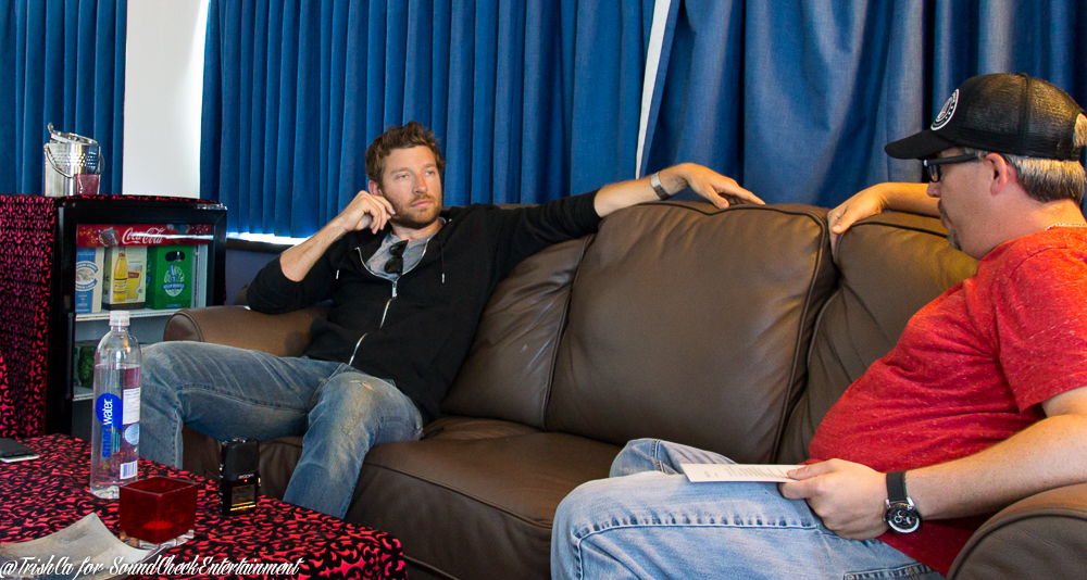 Corey & Brett Eldredge chattin' it up- Photo: Trish Cassling