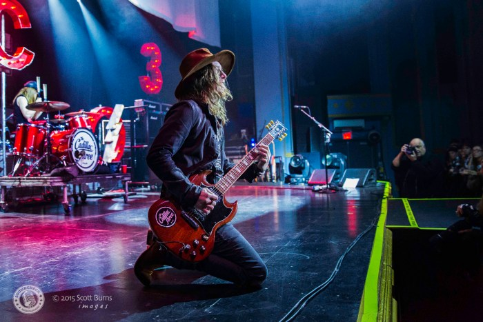 Jaren Johnson of Cadillac Three Rockin' The Sold Out Crowd in Toronto - Photo: Scott Burns Images