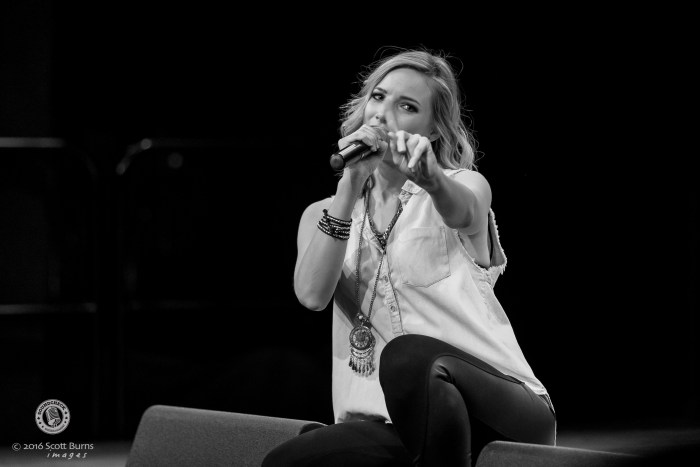 Leah Daniels performs at the Molson Theatre at Hamilton Place for the Coors Banquet Pre-show Tailgate Party