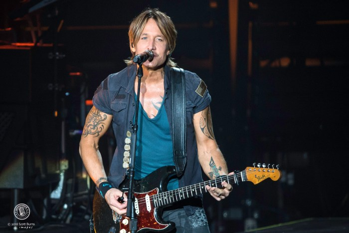 Keith Urban performs at the Molson Canadian Amphitheatre, Toronto. Photo: Scott Burns