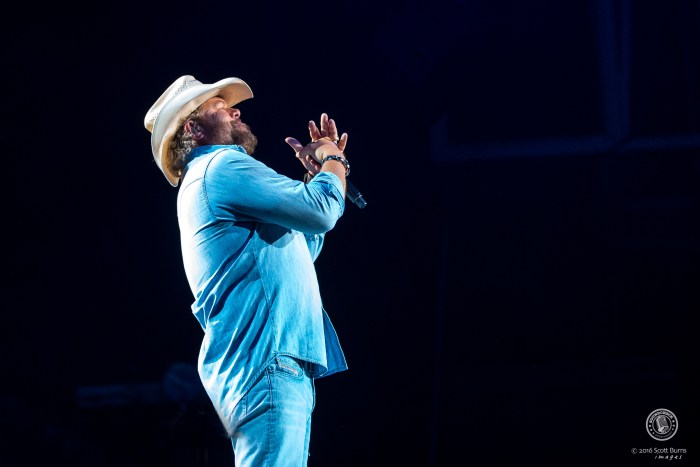 Toby Keith performs at the Molson Canadian Amphitheatre in Toronto. Photo: Scott Burns