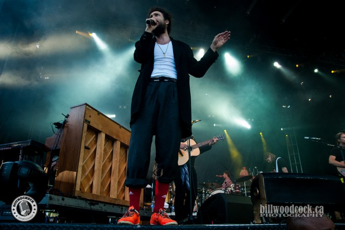 Edward Sharpe performs at Rock The Park in London. Photo: Bill Woodcock