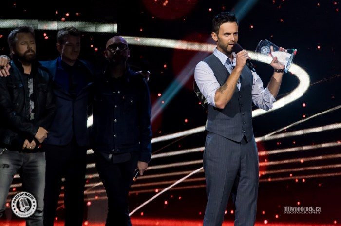 Dean Brody accepts one of his Four CCMA Awards in London, ON - Photo: Bill Woodcock
