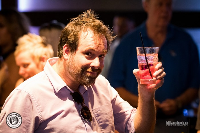 Singer / Songwriter Phil Barton enjoying a beverage during the ORR CCMA party in London - Photo: Bill Woodcock