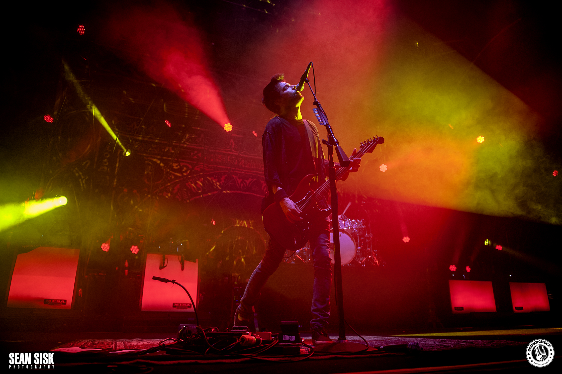 Pete Loeffler lead singer of Chevelle performs at TD Place in Ottawa photo by Sean Sisk
