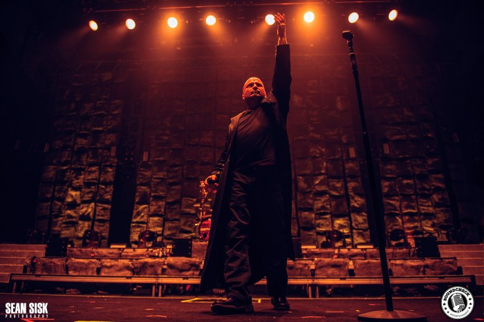 David Draiman of Disturbed performs at TD Place in Ottawa photo by Sean Sisk