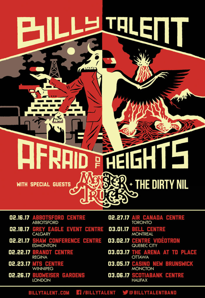 Billy Talent Afraid of Heights Tour