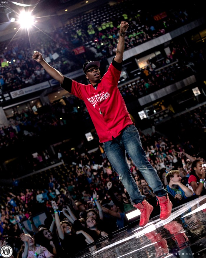 Kardinal Offishall takes part in WE Day celebrations at Canadian Tire Centre in Ottawa photo by Dave DiUbaldo