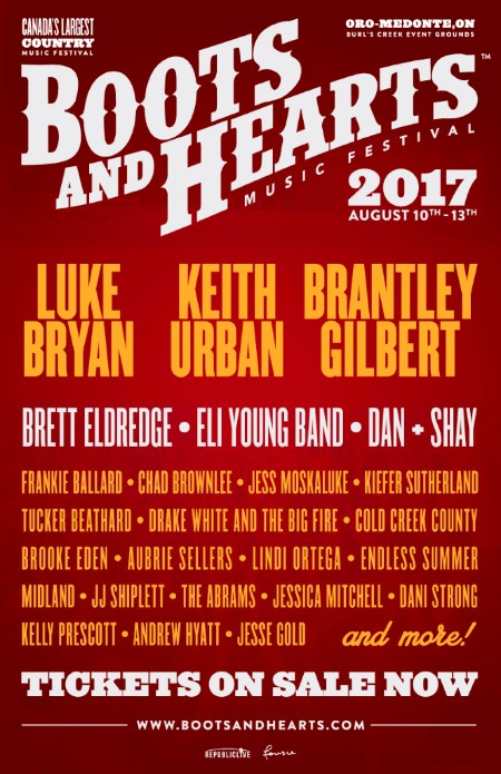 Boots and Hearts 2017 lineup