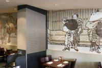 Custom Fabric Wall Treatment for Sushi & Kushi Imai ...