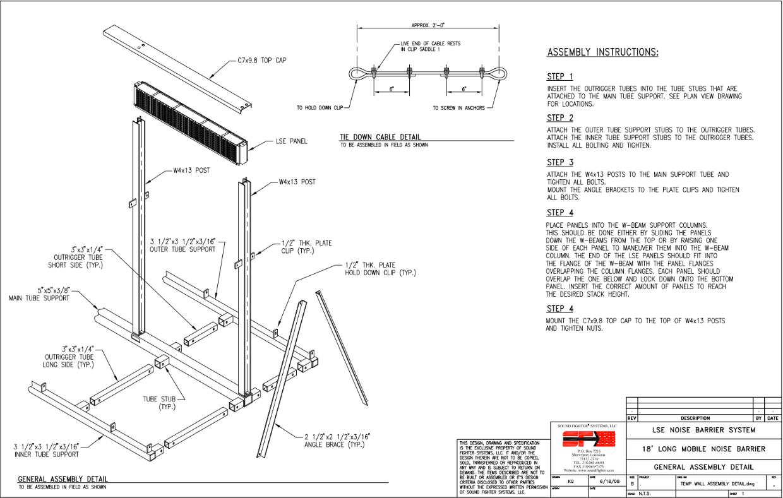 Installing Mobile Noise Barrier Panels
