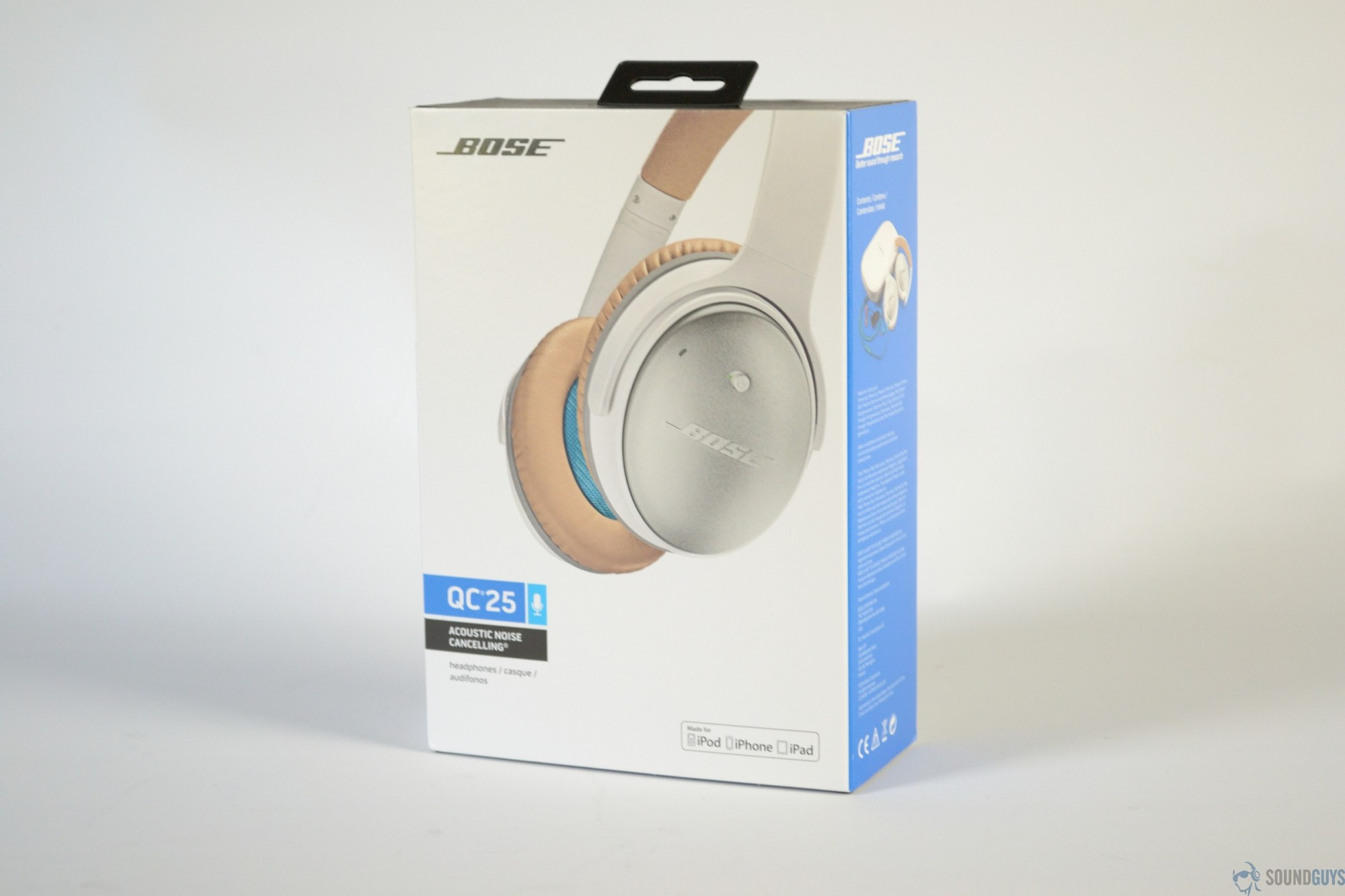 hight resolution of a photo of the bose quietcomfort 25 in their packaging