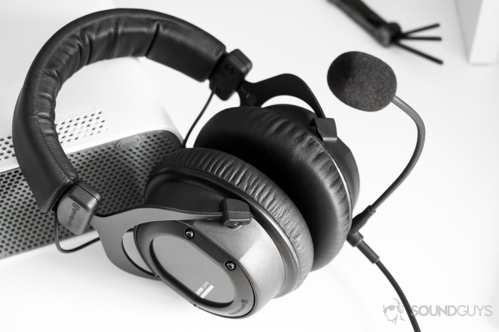 medium resolution of gaming headset beyerydynamic custom game headset leaning on a white xbox 360 with a universal